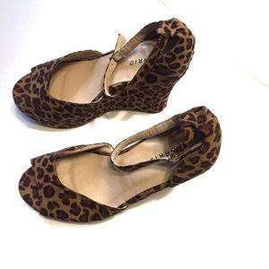 torrid Shoes - Torrid Leopard Ankle Strap Wedge Platform Sandal